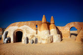 Star wars decoration in Sahara desert — Stock Photo
