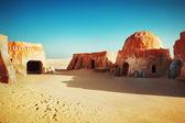 Star wars decoration in Sahara desert — Stock Photo