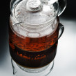 Glass teapot - Stock Photo