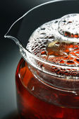 Glass teapot — Stock Photo