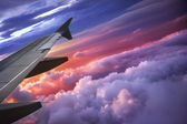 Wing of an airplane — Stock Photo