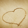 Sand heart — Stock Photo #21200725