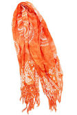 Orange scarf — Stock Photo