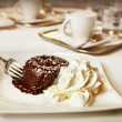 Stock Photo: Chocolate fondant