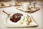 Chocolate fondant — Stock Photo