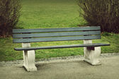Park bench — Stock Photo