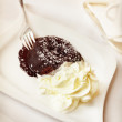Chocolate fondant - Stock Photo