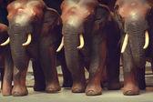 Wooden elephant — Stock Photo