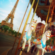 Merry-go-round in Paris — Stock Photo #31228975