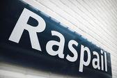 Raspail metro station — Stock Photo