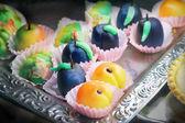 Marzipan cakes — Stock Photo