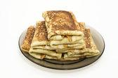 Pancakes on shrovetide — Stock Photo