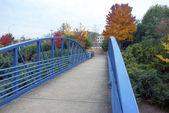 Most pro pěší na podzimní den — Stock fotografie