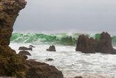 Stormachtige zeeën — Stockfoto