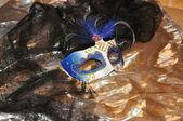 Venezianische maske blau — Stockfoto