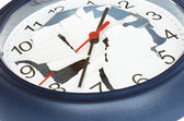 Shattered clock — Stock Photo