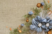 Background with handmade flowers arrangement — Stock Photo