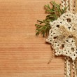 Stock Photo: Background and crochet lace