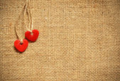 Two hearts on canvas — Stock Photo