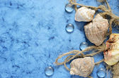 Blue marine background — Stock Photo
