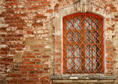 Window in a brick wall — Stock Photo