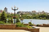 Shcherbakov park in Donetsk, Ukraine — Stock Photo
