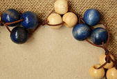 木製ビーズ — ストック写真