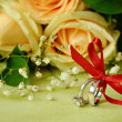Stock Photo: Rings and roses