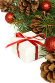 Christmas gift and holiday decorations — Stok fotoğraf