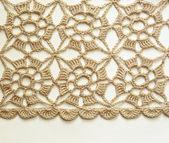 Beige crochet lace — Stock Photo