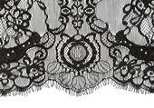 Black lace edge — Stock Photo