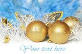 Christmas decoration and mask — Stock Photo