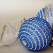 Christmass balls and pine cone — Stock Photo