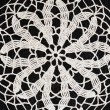 Black and white crochet background — Stock Photo