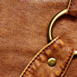 图库照片: Leather bag detail