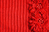 Red knitted background — Stock Photo