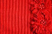 Sfondo rosso lavorato a maglia — Foto Stock