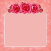 Pink background with rose flowers — Stock fotografie