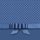 Bow on blue and white background — Zdjęcie stockowe