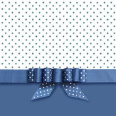 Bow on blue and white background — Stock Photo