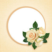 Rose flowers composition and frame — Stock Photo