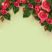 Red rose flowers arrangement  — Stock Photo