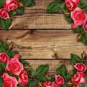 Red rose flowers arrangement  — Stock Photo