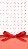 Bow on red and white background — Foto de Stock