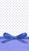 Bow on blue and white background — 图库照片