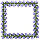 Periwinkle flowers square — Zdjęcie stockowe