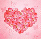 Heart with flowers — Stock Photo