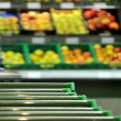 Supermarket fruit section go for shopping — Stock Photo