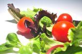 fresh salad ingredients preparing a vegetal ingredients — Foto Stock