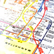 Manhattan map orientation in new york city — Stock Photo